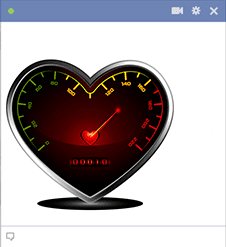 Heart Speedometer Icon