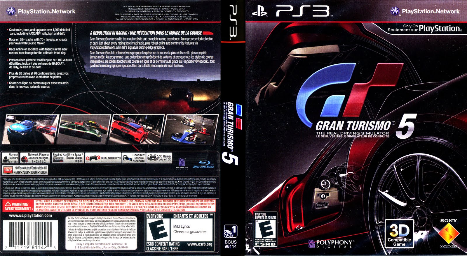 games covers gran turismo 5 ps3. Black Bedroom Furniture Sets. Home Design Ideas