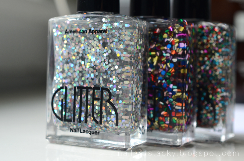 American Apparel Glitter Nail Polish Review