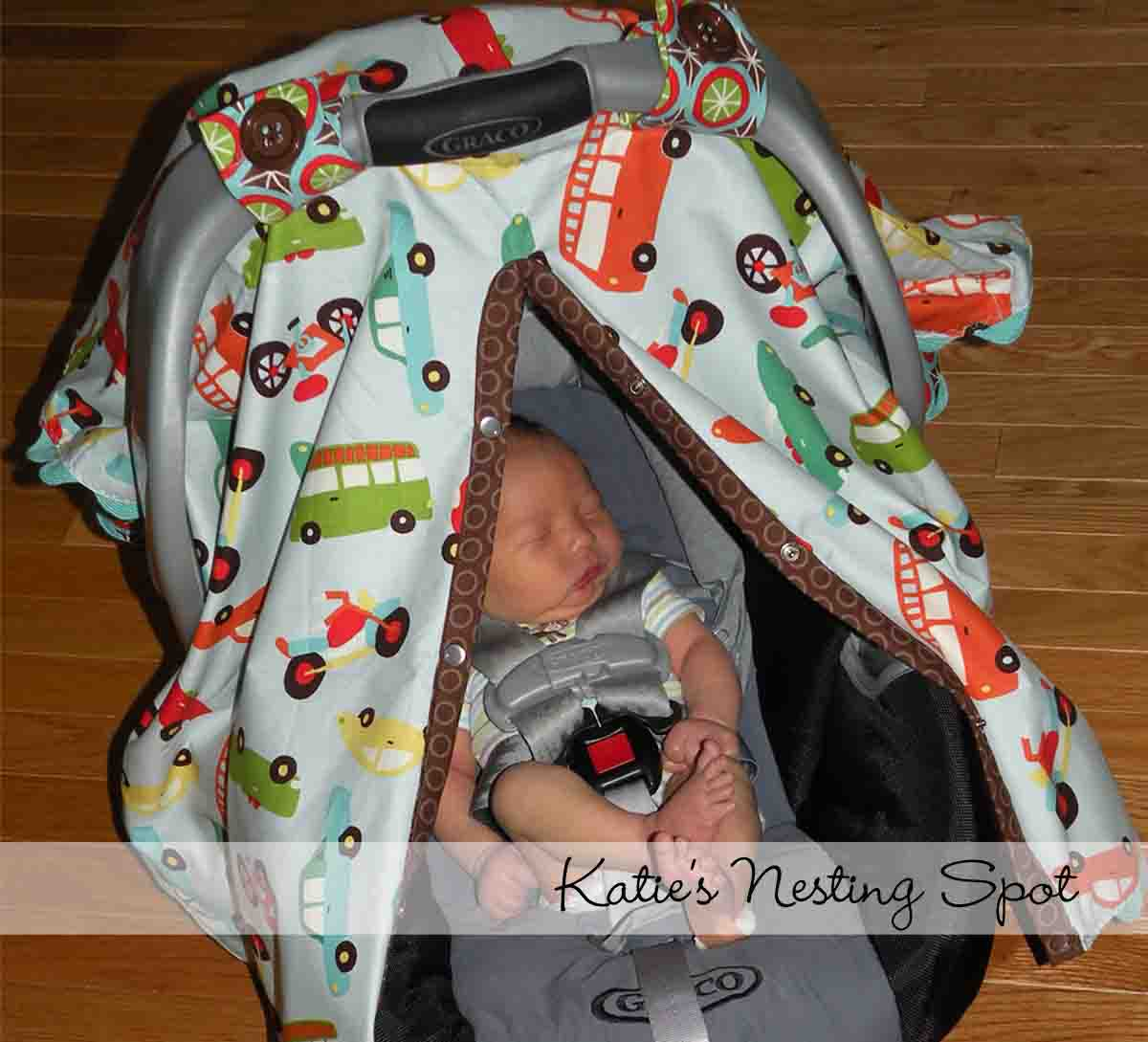 Katie\'s Nesting Spot: Baby Gear Must Have: Car Seat Canopy
