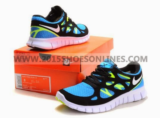 2012 Nike Free Run  2 Men Shoes Black Red White