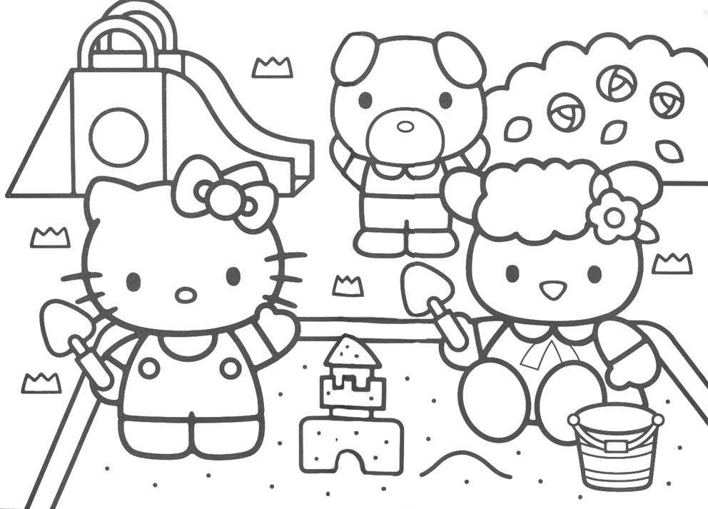 Hello Kitty Printable Coloring Pages Free