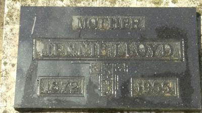 Her headstone at the Pioneer Cemetery in Kelowna BC