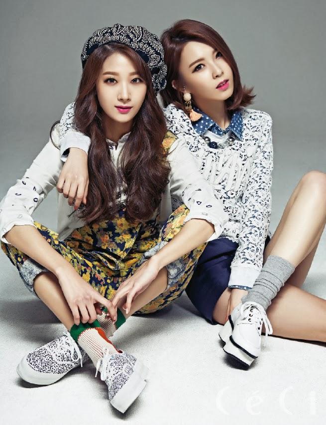 Kyungri, Hyemi and Minha  Nine Muses - Ceci Magazine March Issue 2014