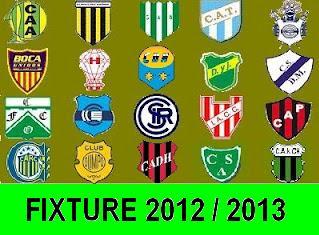 El Fixture 2012 / 2013 completo