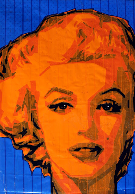 Marilyn Monroe   tape art   artist Sonya  Bronya Benigeler israeli moderm pop contemporary painting