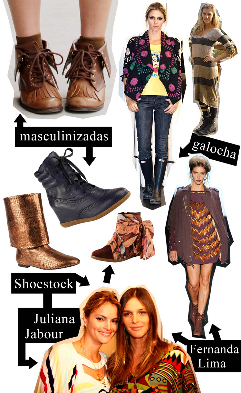 BOTA A BOTA_Fernanda Lima_Juliana Jabour_botas masculinizadas_botas com lenço_botas da juliana_as botas de Fernanda Lima_Bota coura de cobra_Galocha