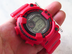 CASIO G-SHOCK FROGMAN DW-8200F TITANIUM - RED