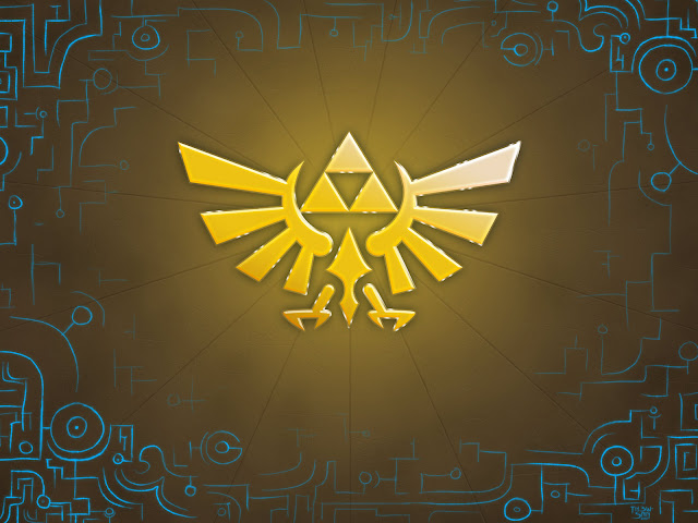 zeldas royal crest tri force the legend of zelda link