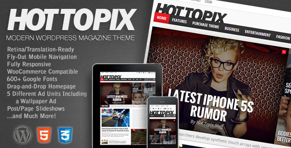 Hot Topix - Modern Wordpress Magazine Responsive Theme