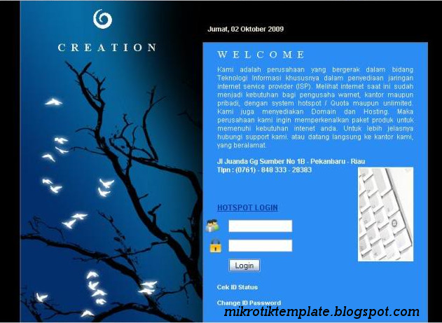 MikroTik Hotspot Login Template Free Download
