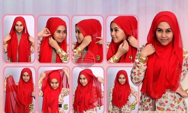 Cara pakai jilbab wedding