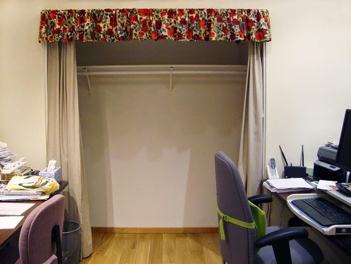 frabric storage system: Empty closet for storing fabrics