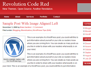 Revolution Code Red Blogger template,Revolution Code Red template