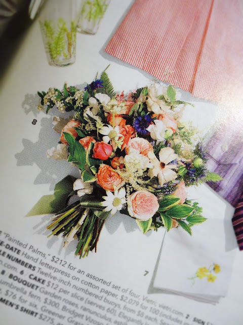 Brides Magazine: Bouquet by The Designer's Co-op.