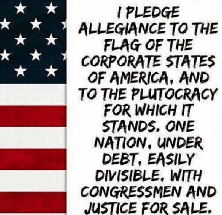 For the left the new pledge of allegiance