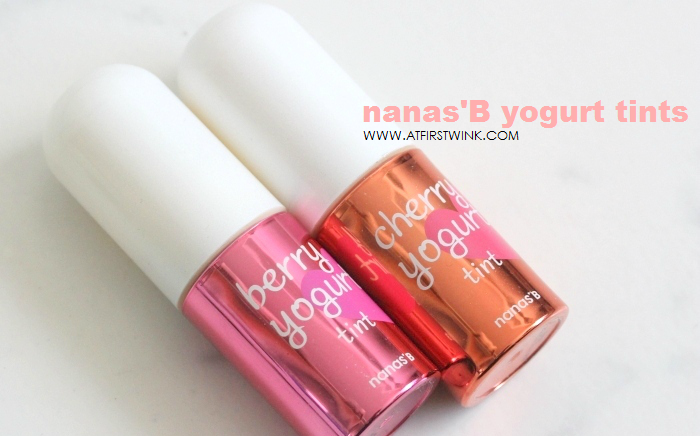 nanas'B berry yogurt tint and cherry yogurt tint