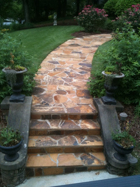 Dise o de escaleras para patios y jardines patios y jardines - Escaleras para jardin ...