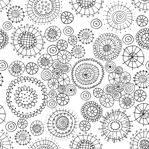 This Time The Theme Is Floral Coloring Book Wallpaper We Had To Create A Black And White Design That Ready For Crayons Pencils