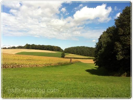 Landschaft mit Wolkenspiel