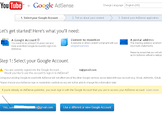 Continue your adsense account: