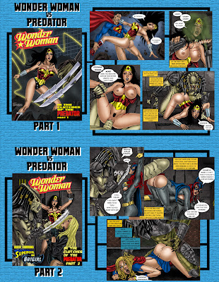 Sexy DC  Wonder Woman Batgirl Supergirl Superheroine XXX comic book page