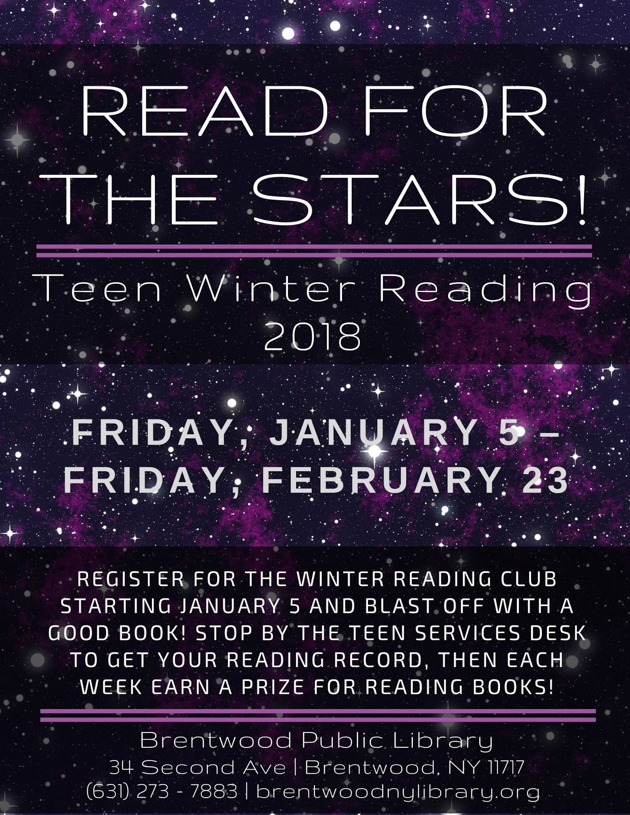 Winter Reading Club 2018