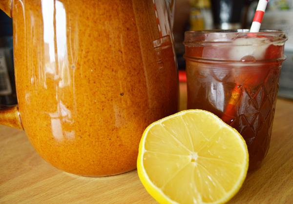ginger & vanilla citrus sweet tea