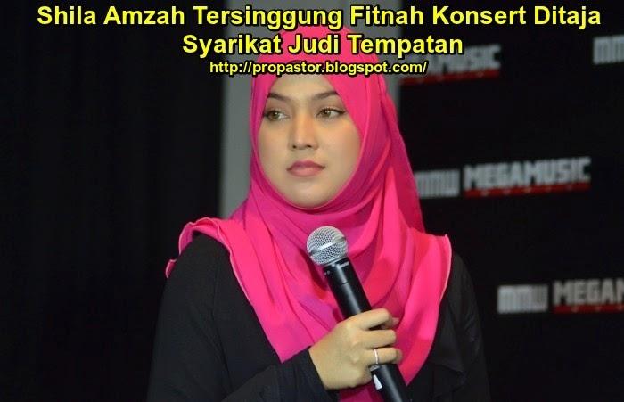 Shila Amzah Tersinggung Fitnah Konsert Ditaja Syarikat Judi Tempatan
