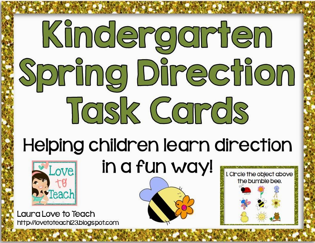 http://www.teacherspayteachers.com/Product/Kindergarten-Direction-Task-Cards-Spring-Themed-1177314