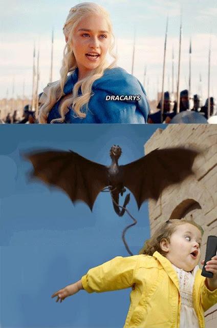 niña huye khaleesi - Juego de Tronos en los siete reinos