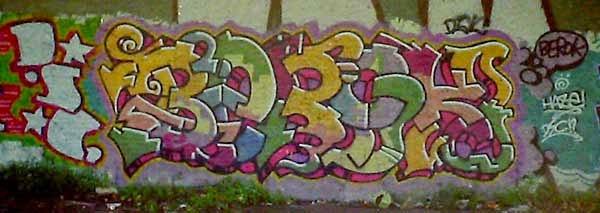 Graffiti Vieja escuela Barna