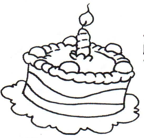 Rica torta para pintar y colorear | Dibujos para Colorear Gratis