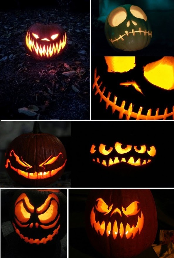 Jack-O-Lantern Pumpkin Carvings