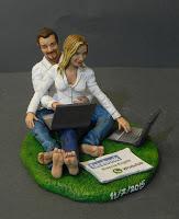 cake topper realistici matrimonio a tema tecnologia computer orme magiche
