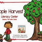 http://www.teacherspayteachers.com/Product/Apple-Harvest-Literacy-CenterSensory-Tub-Letter-Cards-1420437