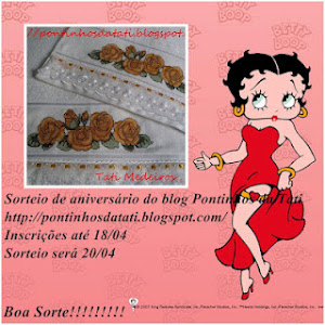 Sorteio no blog Pontinhos da Tati!! Eu estou participando, participe também!