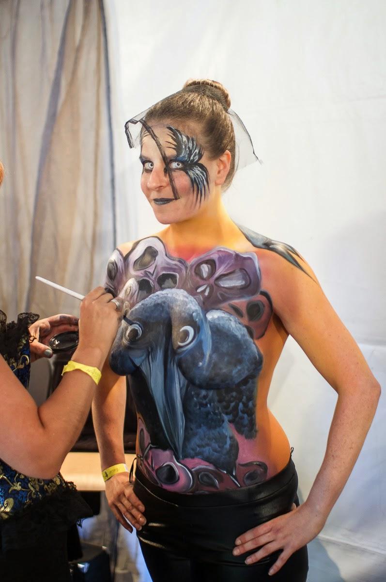 Elfia 2014 BodyPaint Body Paint in Elfia Bodipainting, Kasteeltuinen Arcen