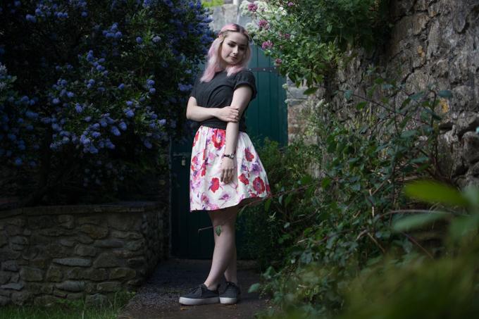 floral puffball dress