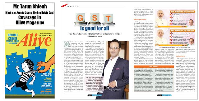 Tarun Shienh Coverage in Alive Magazine