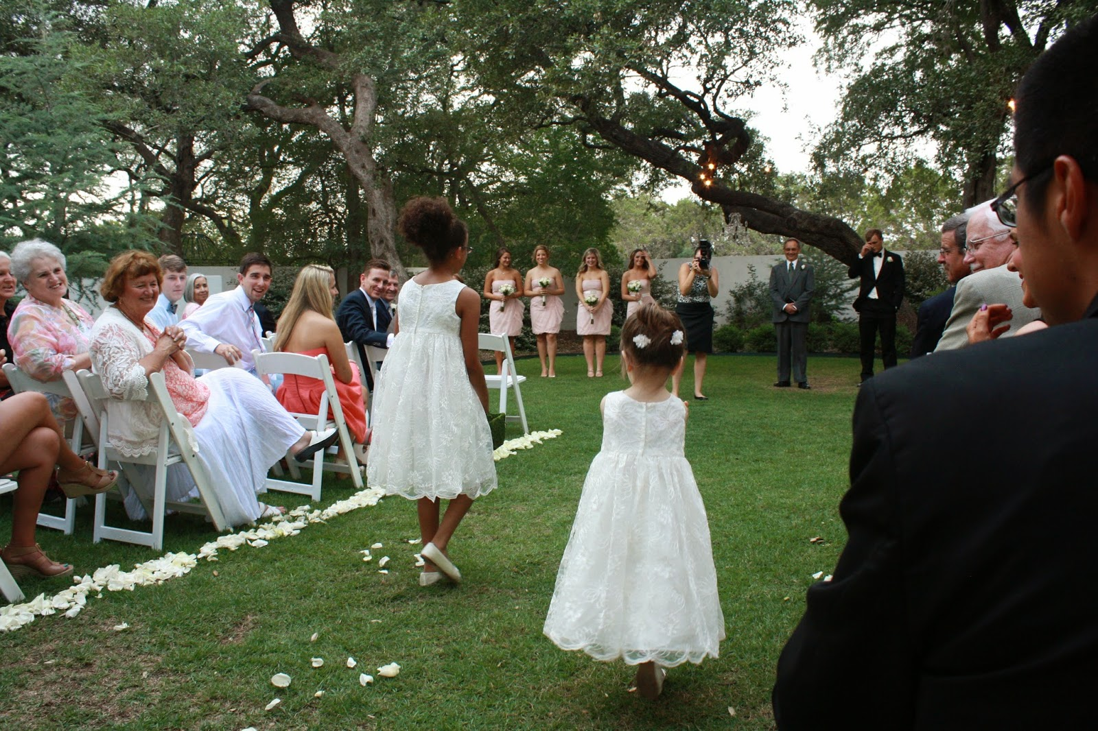 the gardens at west green, flower girls, dresses, outdoor wedding