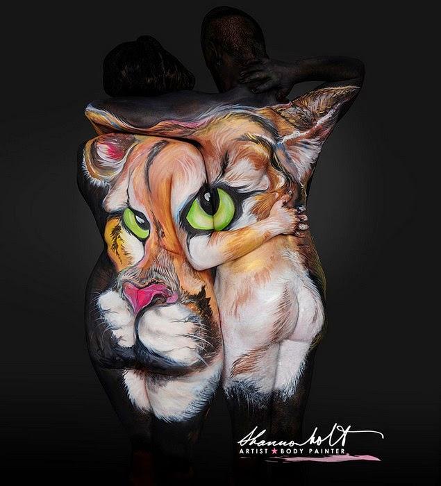 body painting Florida Wildlife Series