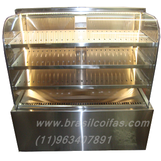 Vitrine refrigerada ideal pra bolos tortas