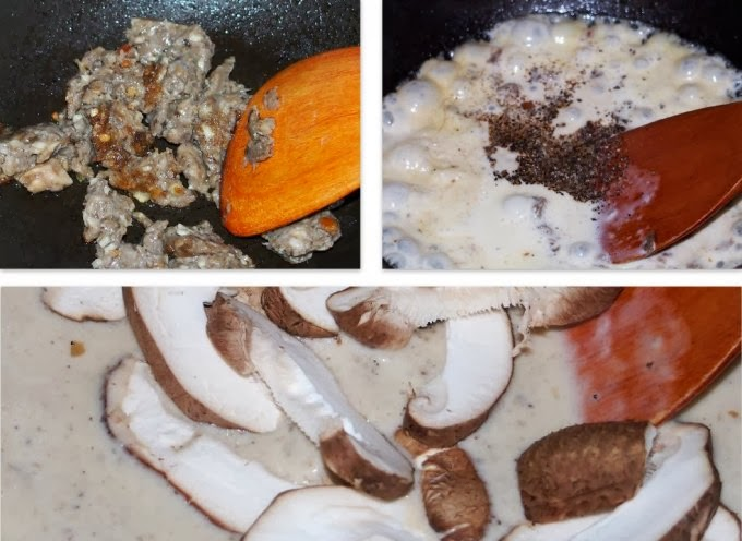 how to make black pepper mushroom cream sauce