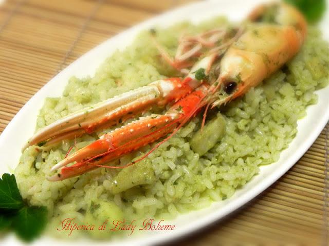hiperica_lady_boheme_blog_di_cucina_ricette_gustose_facili_veloci_risotto_con_scampi_e_pesce_persico_2