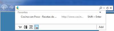 Recetas cocina add-on Microsoft Internet Explorer