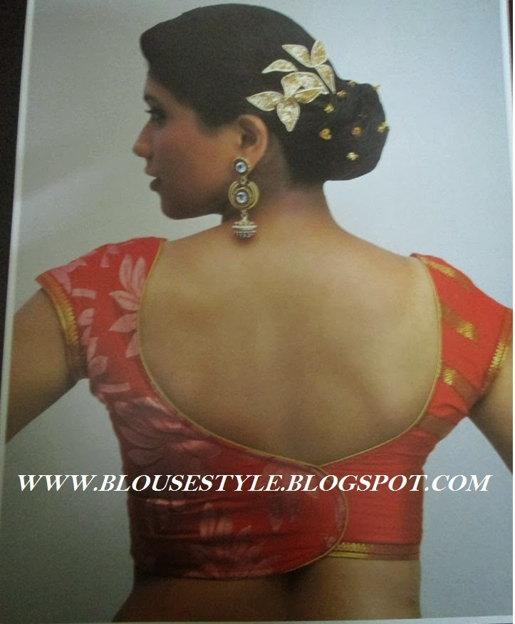 COLOURFUL BACK NECK BLOUSE STYLE
