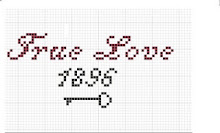 Freebie Valentine X stitch pattern for you!