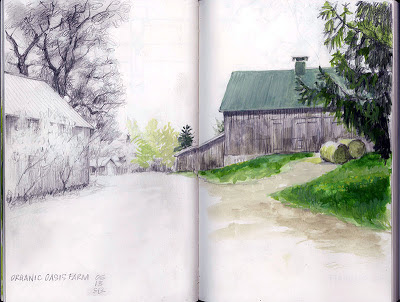 Farm sketch by Shannon Reynolds