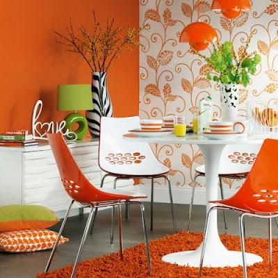 decoracion comedor colorido